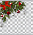 new year christmas a green branch of a christmas vector image vector image
