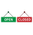 open closed sign icon flat vector image
