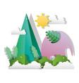 paper art animal vector image