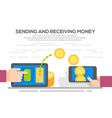 people sending and receiving money vector image vector image