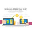 people sending and receiving money vector image