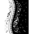 Piano Keyboard with Music Notes3 vector image