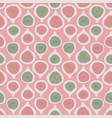 pink green half-cut figs seamless repeat vector image vector image