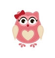 Pink owl vector image vector image