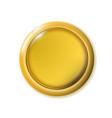 realistic matte gold button metal circle ui vector image vector image