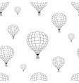 seamless pattern of black hot air balloons vector image