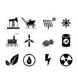 set of electricity generation icon for infographic vector image
