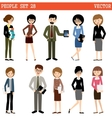 Set of people at office vector image vector image