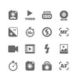 set of photo and video icons camera sign vector image
