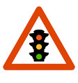 sign trafic liht vector image
