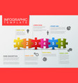 six steps infographic template with puzzle pieces vector image