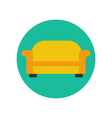 Sofa couch vector image vector image
