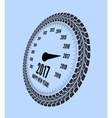Speedometer 2017 year greeting vector image