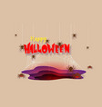 spooky spiders and web happy halloween banner vector image