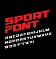 sport font bold italic letters with dynamic slant vector image vector image