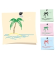 Sticker Palm and island vector image