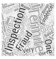 Termite Inspection Fraud Word Cloud Concept vector image vector image