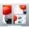 tri fold brochure design red business template vector image vector image