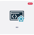 two color seo icon from programming concept vector image vector image