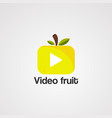 video fruit logo icon element and template vector image vector image