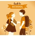 Vintage students background vector image