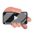wathing video on phone vector image