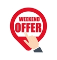 weekend offer online hand pin map online vector image