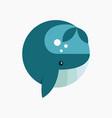 whale big fish logo icon vector image