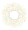 white chrysanthemum flower wreath vector image vector image