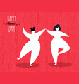 womens day greeting card of girl friends dancing vector image