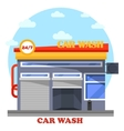 Car wash architecture front view of facade vector image