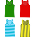 Sleeveless tops vector image
