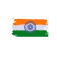 splash art india flag indian republic day vector image
