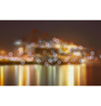 Blurred City Lights by a Harbour vector image