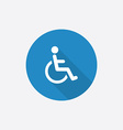cripple Flat Blue Simple Icon with long shadow vector image