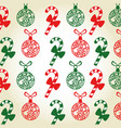 merry christmas seamles pattern vector image
