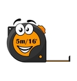 5 metre or 16 foot long tape measure vector image