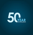 50 year excellence template design vector image vector image