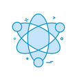 atom science icon design vector image vector image