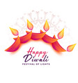 attractive diwali decoration background for vector image vector image