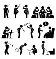 bad wrong behaviour habit lifestyle a set of vector image