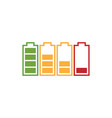 battery icon graphic design template vector image