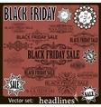 Black Friday sale calligraphic design elements Set vector image