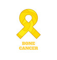 bone cancer awareness papercut ribbon vector image vector image