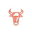 Bull Cow Head Nose Ring Cartoon vector image vector image