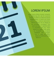 calendar icon with text Eps10 vector image vector image