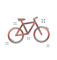 cartoon bike icon in comic style bicycle sign vector image vector image