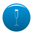 champagne glass icon blue vector image vector image