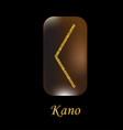 characters rune gold dust vector image