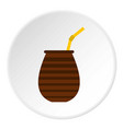 chimarrao for mate or terere icon circle vector image vector image